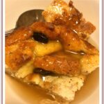 Old Fashion Bread Pudding with Vanilla Sauce