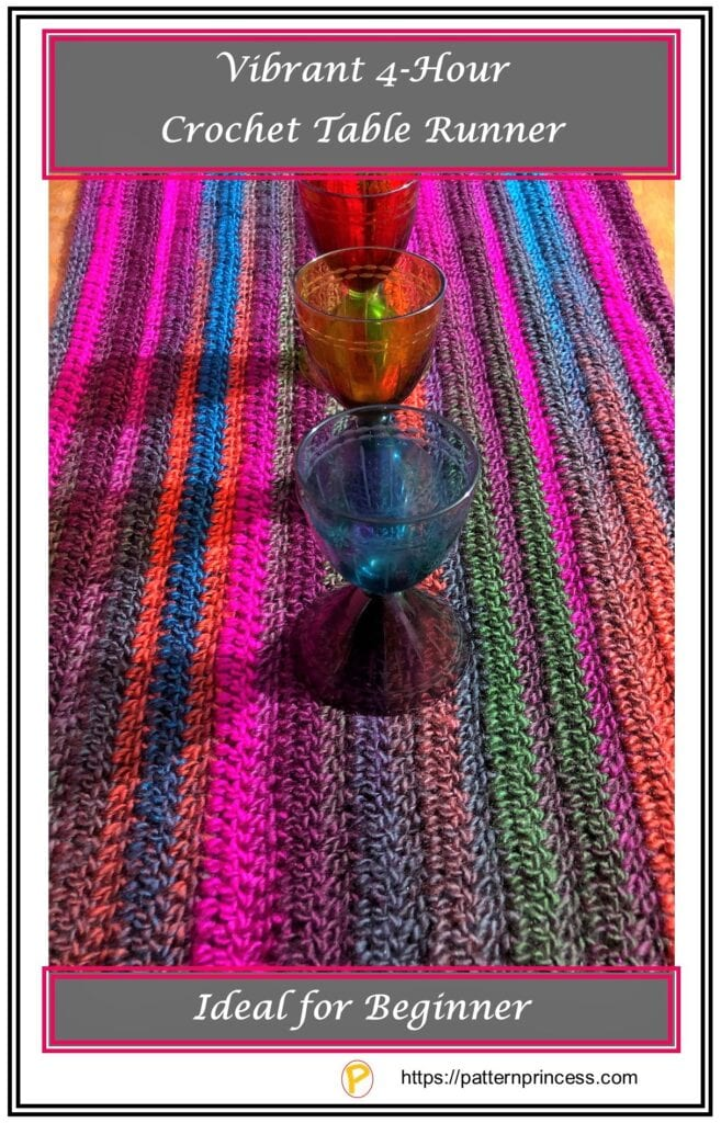 Vibrant 4-Hour Crochet Table Runner