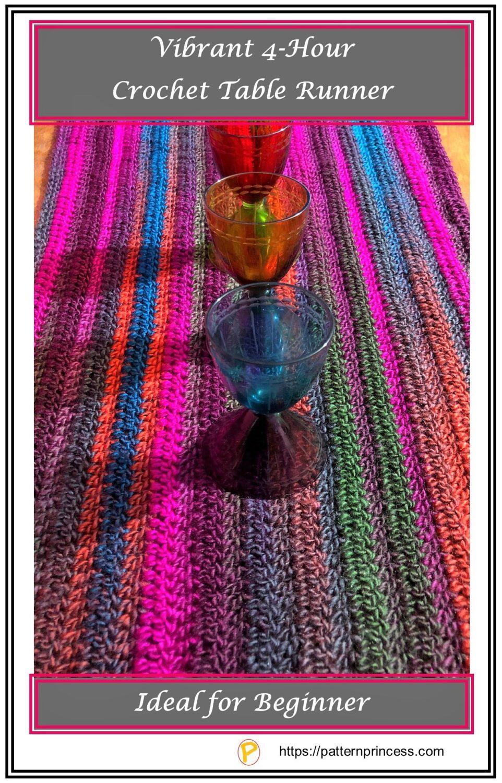 Vibrant 4-Hour Crochet Table Runner
