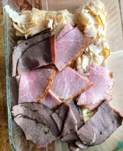 Preparing Chicken, Ham & Beef Sliders