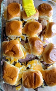 Adding Butter to the Sliders