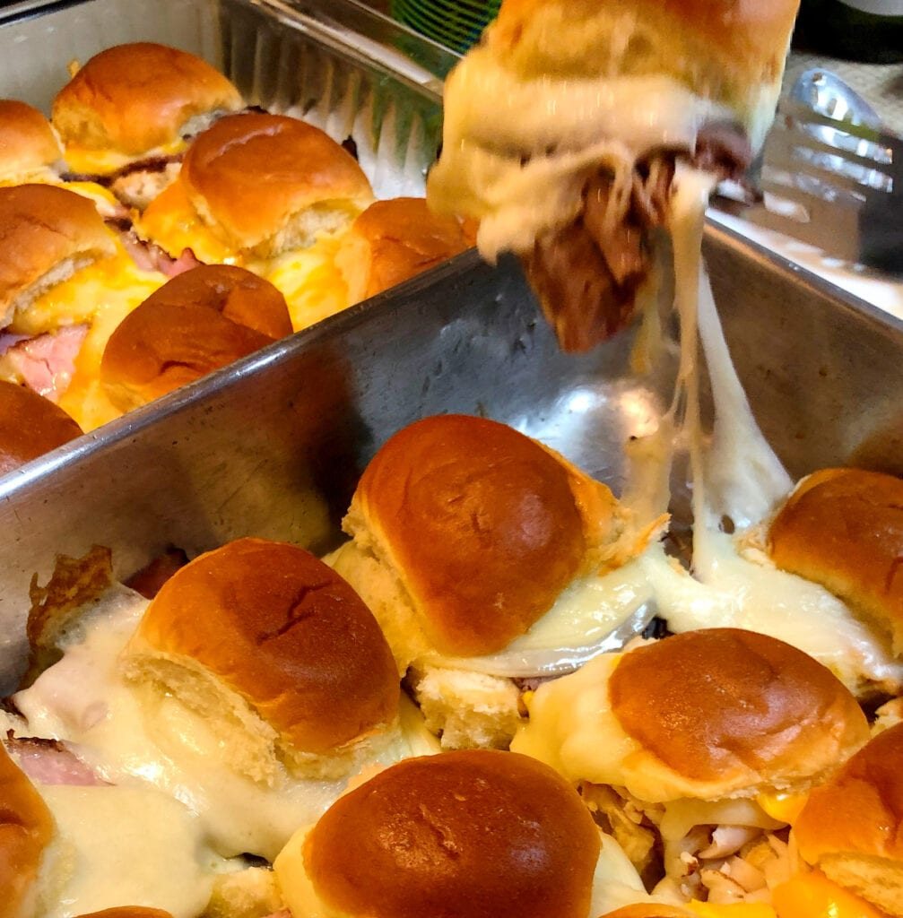 Fresh Out of the Oven Chicken, Ham & Beef Sliders