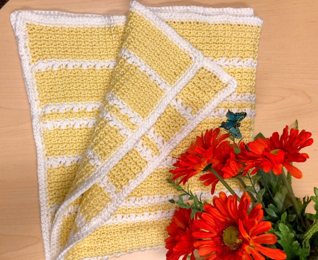 Yellow Crochet Baby Blanket