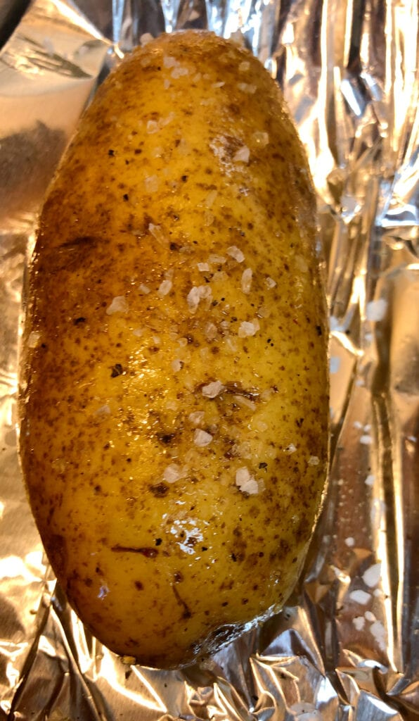 Prepping Potatoes for Baking
