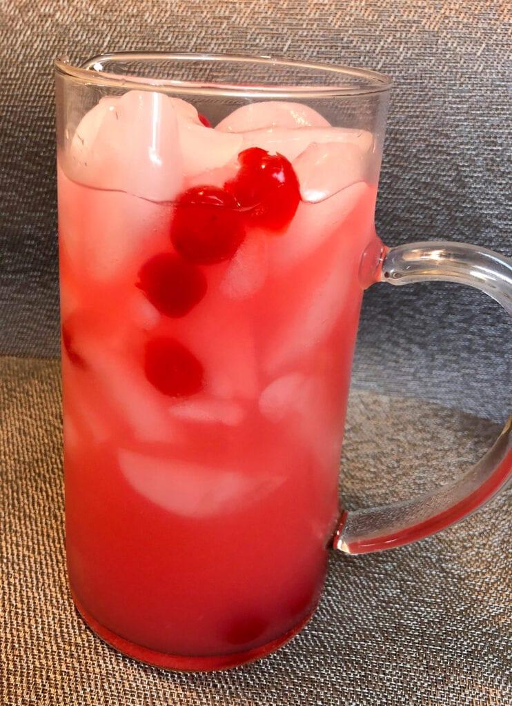 Pitcher of Refreshing Cherry Lemonade
