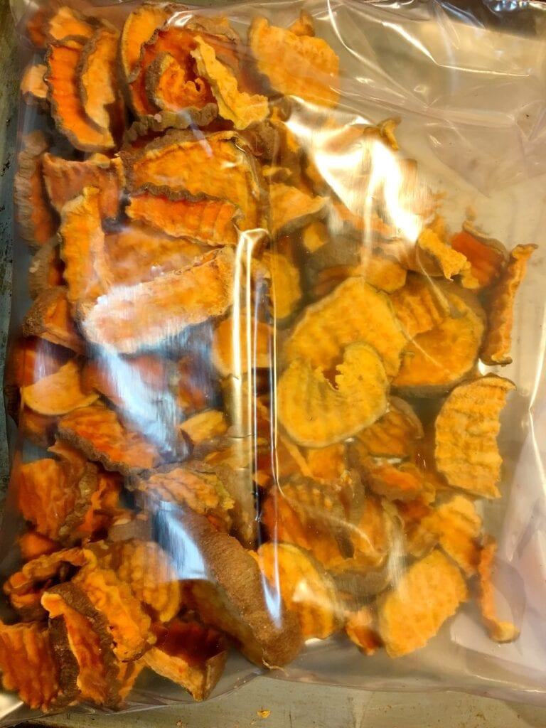 Storing Dried Yam Treats for Dog