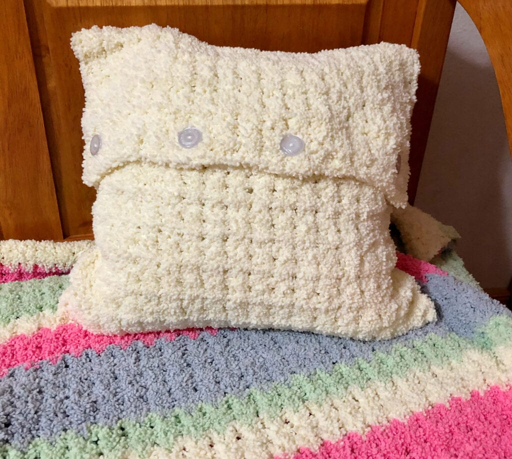 Fluffy Crochet Pillow Cover Pattern Princess