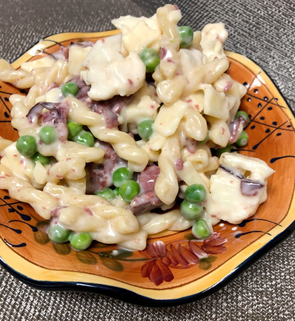 Creamy Smoked Beef Pasta Salad Served on a Plate