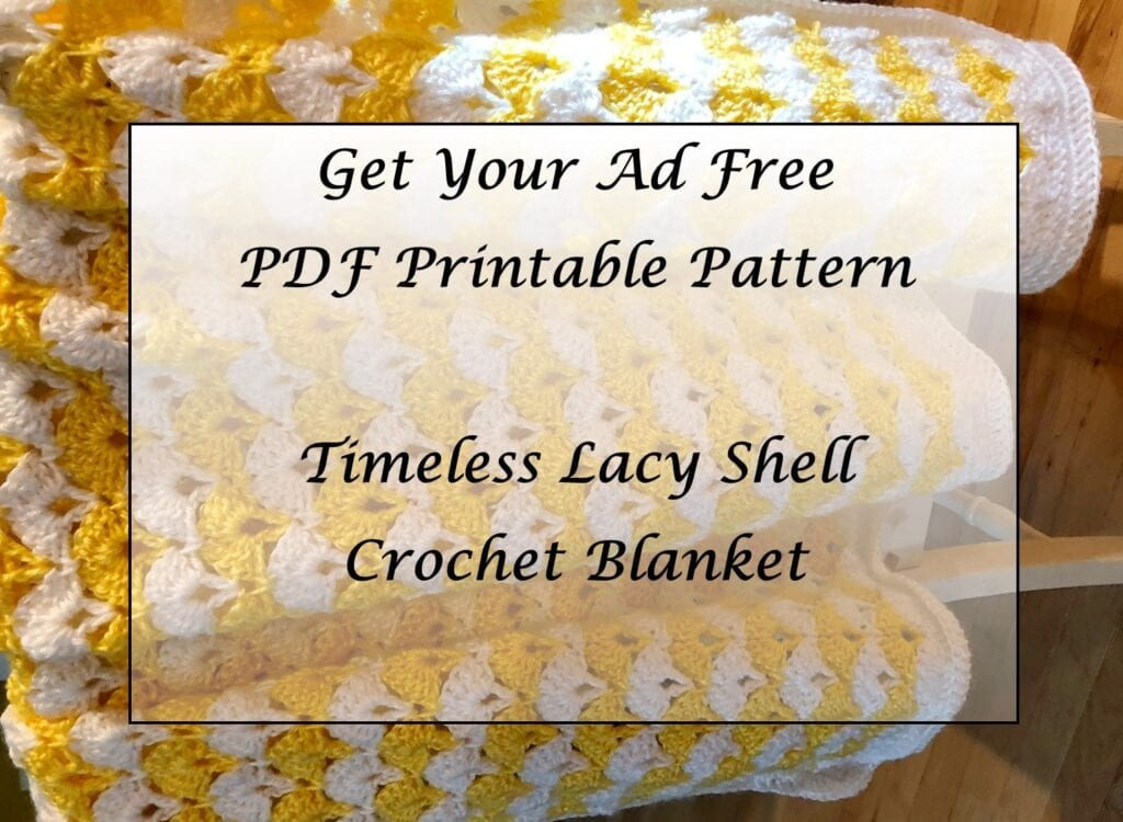 Timeless Lacy Shell Crochet Blanket