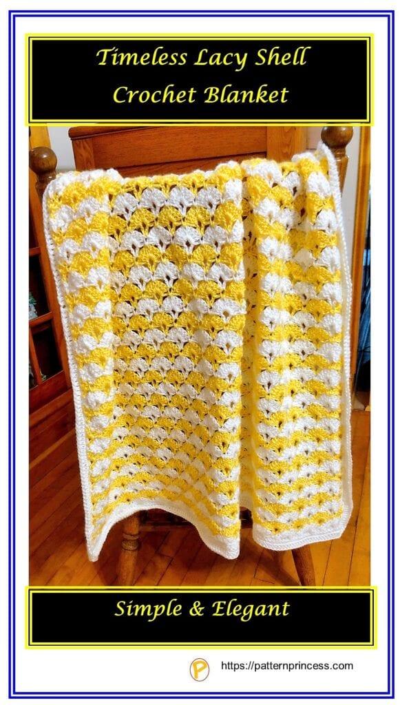 Timeless Lacy Shell Crochet Blanket