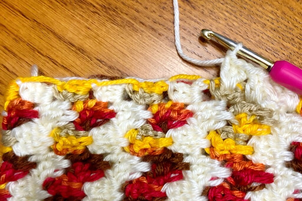 Crocheting Side Border of Pillow Cover