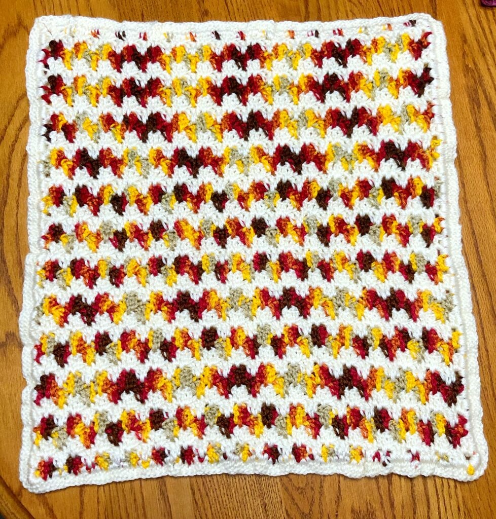 Pillow Covering with the Crochet Border Completed all the Way Around