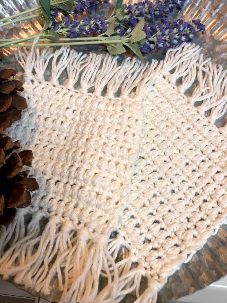 Crochet Mug Rug Boho Style