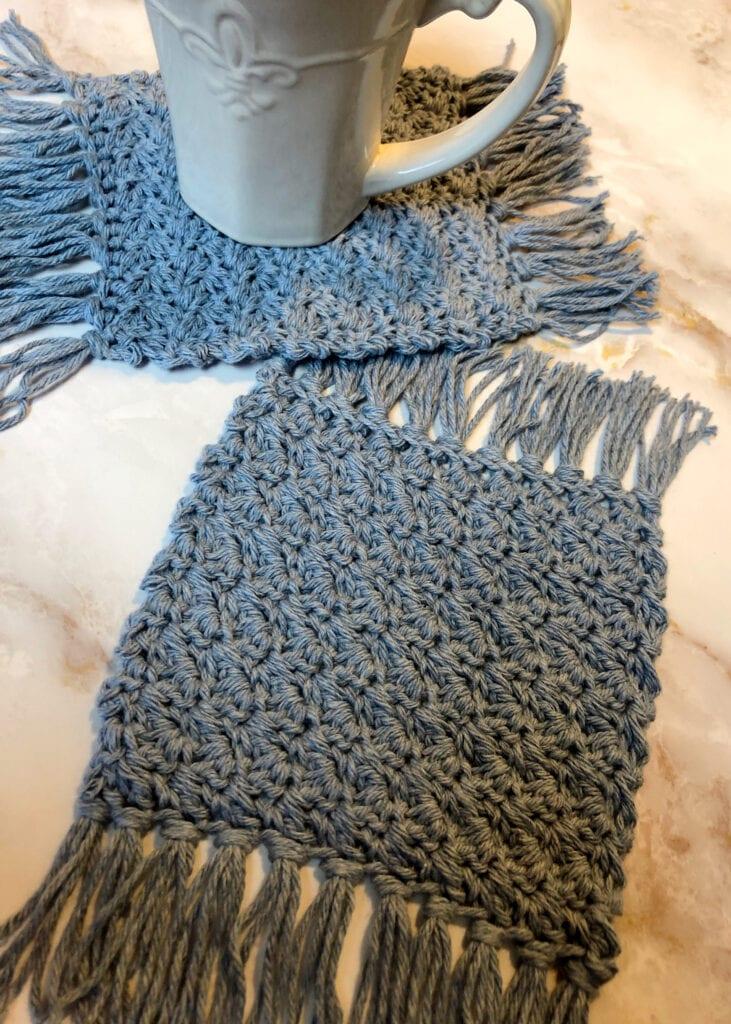 Modern Crochet Textured Coaster