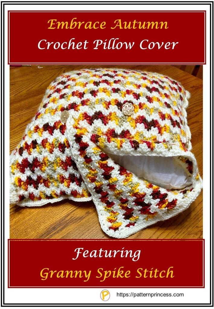 Embrace Autumn Crochet Pillow Cover