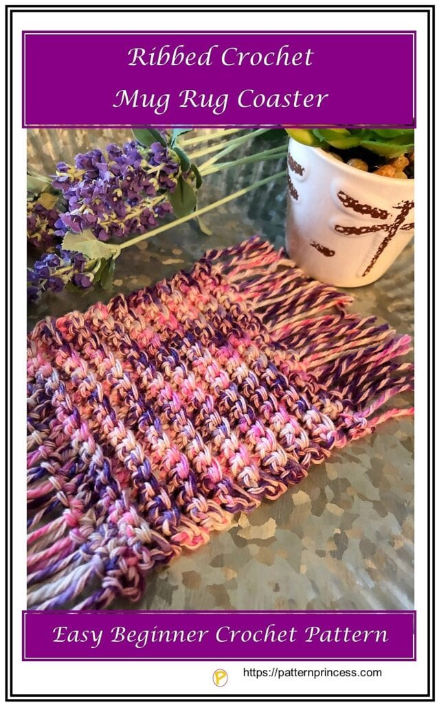 Ribbed Crochet Mug Rug Coaster