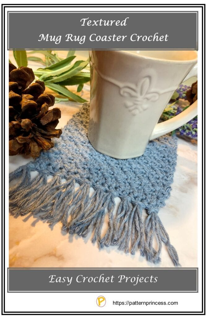 Textured Mug Rug Coaster Crochet