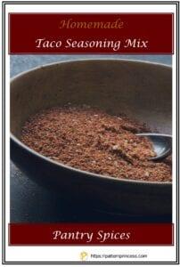 Homemade Taco Seasoning Mix