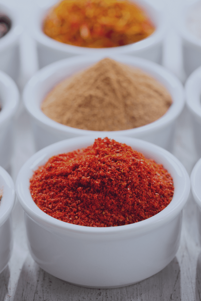 Pantry Spices Displayed in Cups
