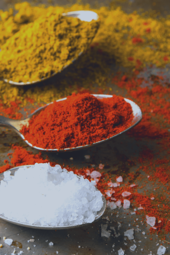 Spice Mix Ingredients on Spoons