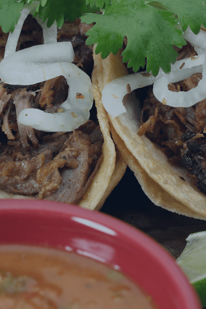 Carnitas Served in Double Flour Shells
