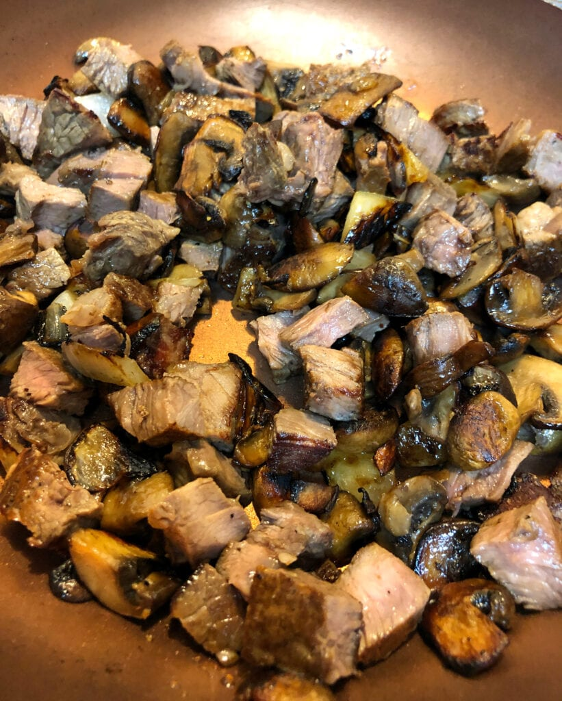 Caramelized Steak Mushrooms and Onion