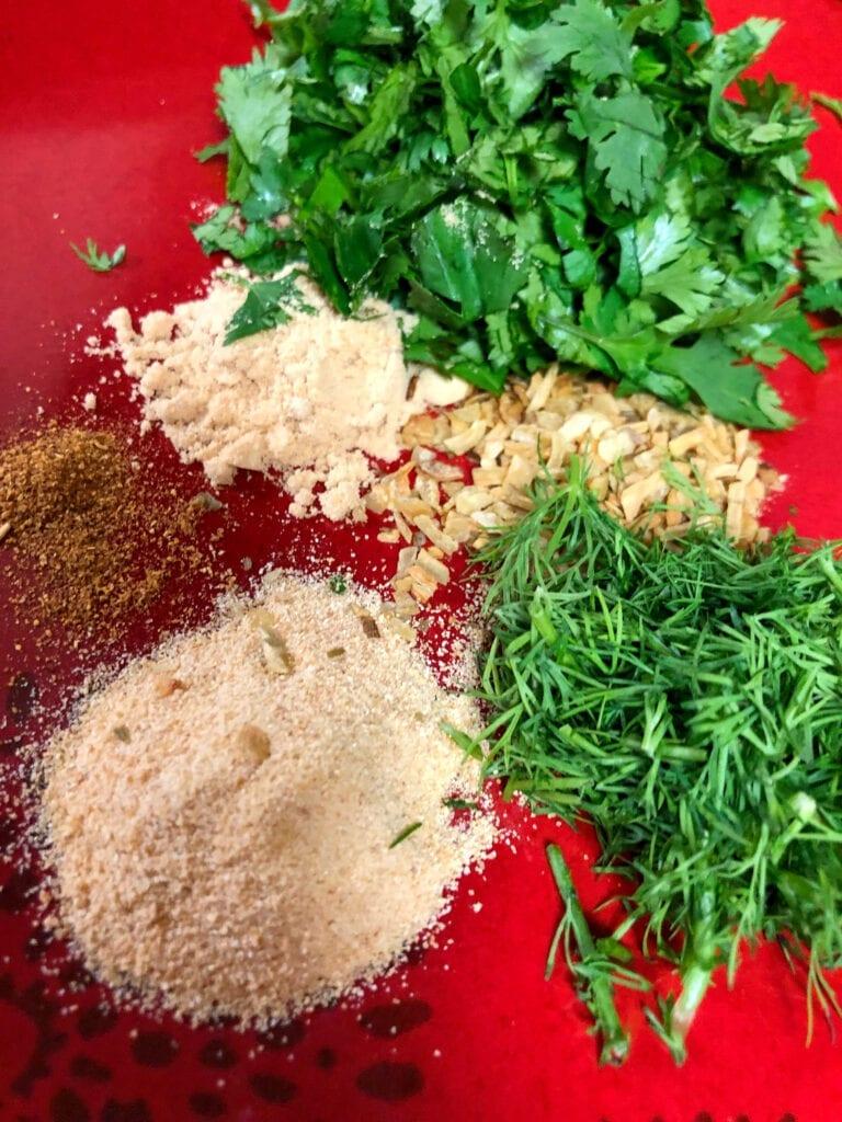 Fresh Herbs for Salad Dressing