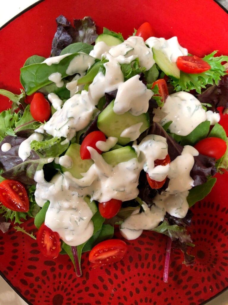 Homemade Fresh Herb Ranch Salad Dressing