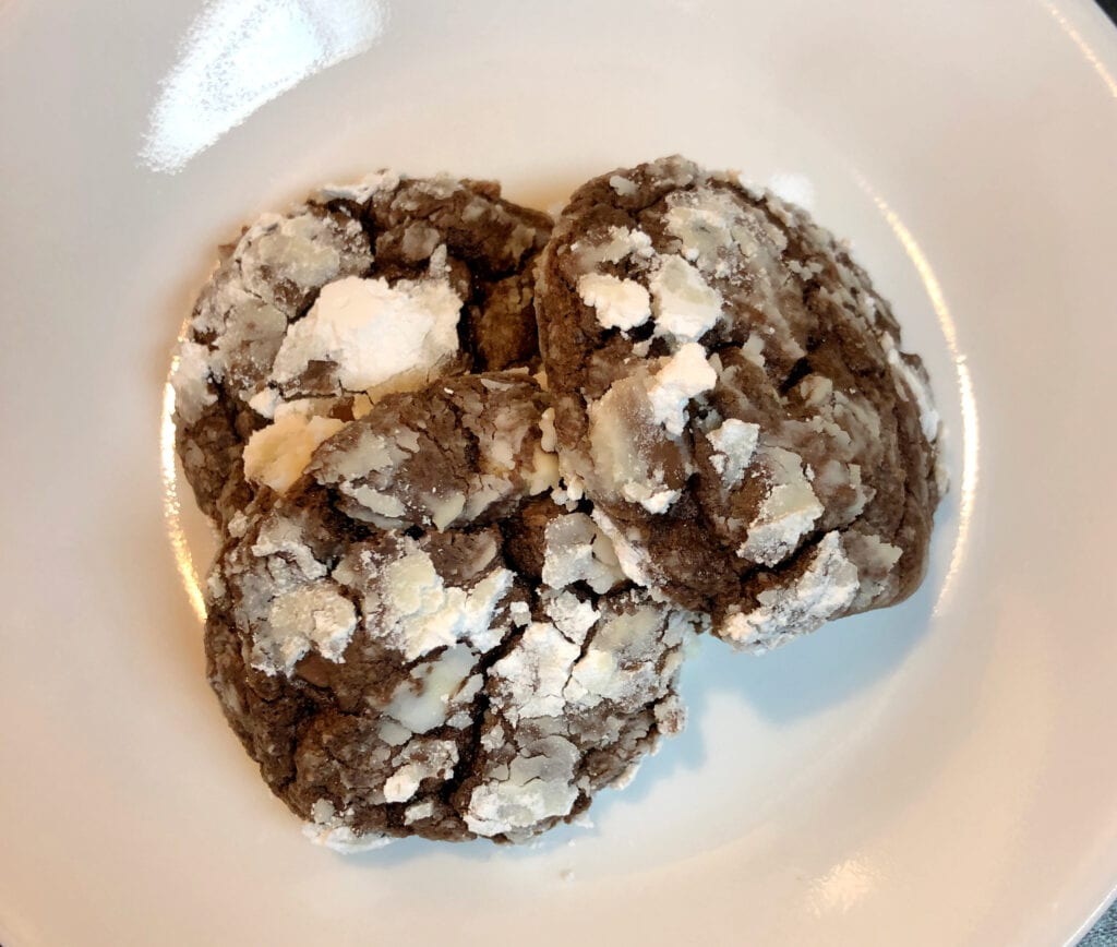Chocolate Crinkle Cake Mix Cookies