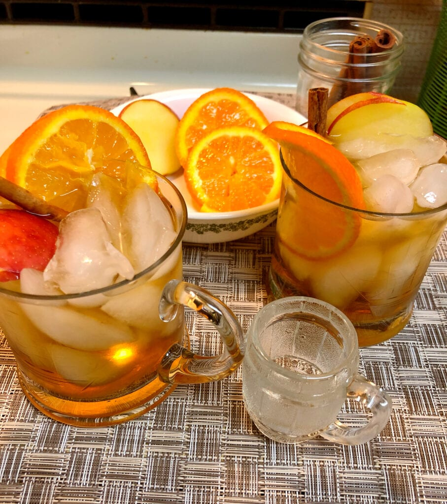 Non-Alcoholic Fall Apple Cider Drinks with Garnishes
