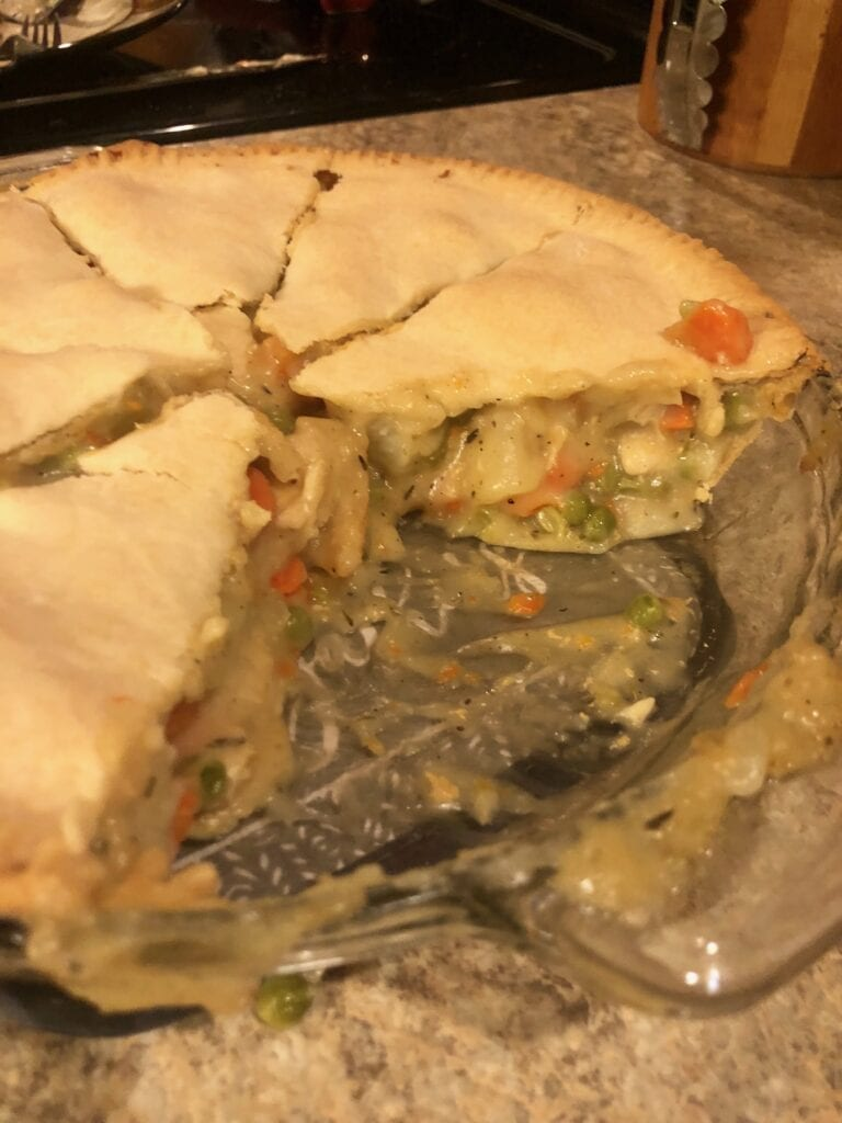 Pot Pie with a Few Slices Gone Already