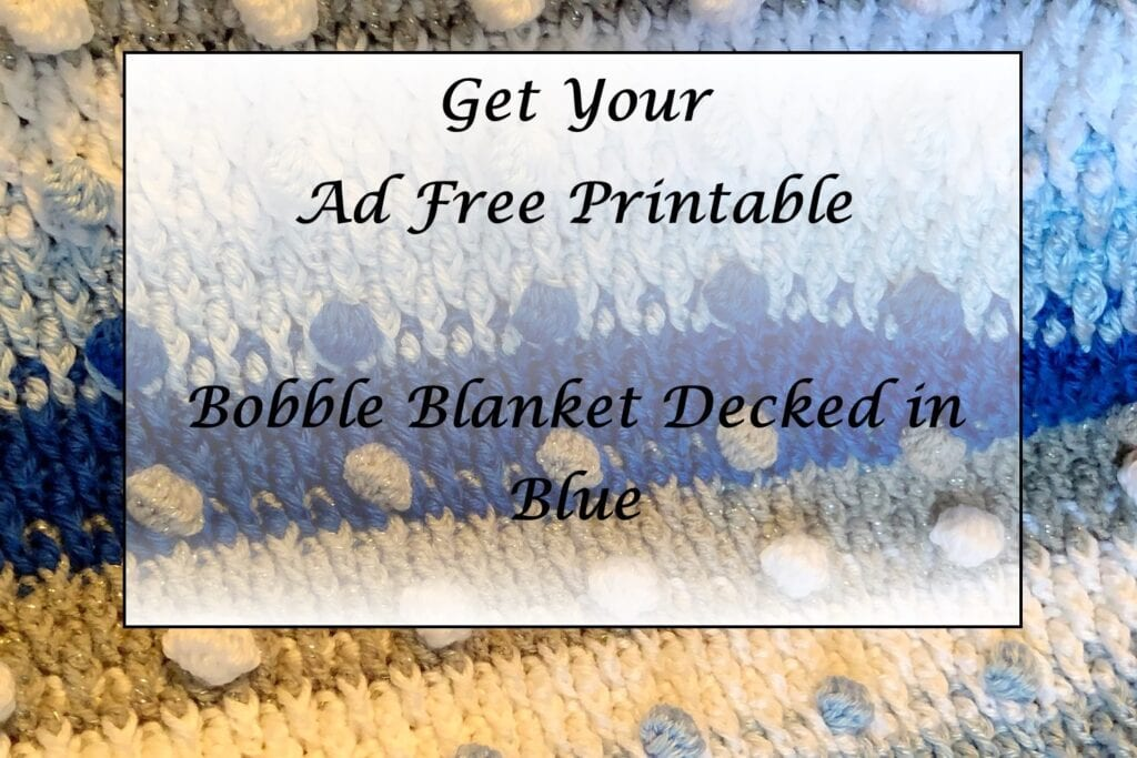 Bobble Blanket Decked in Blue Printable