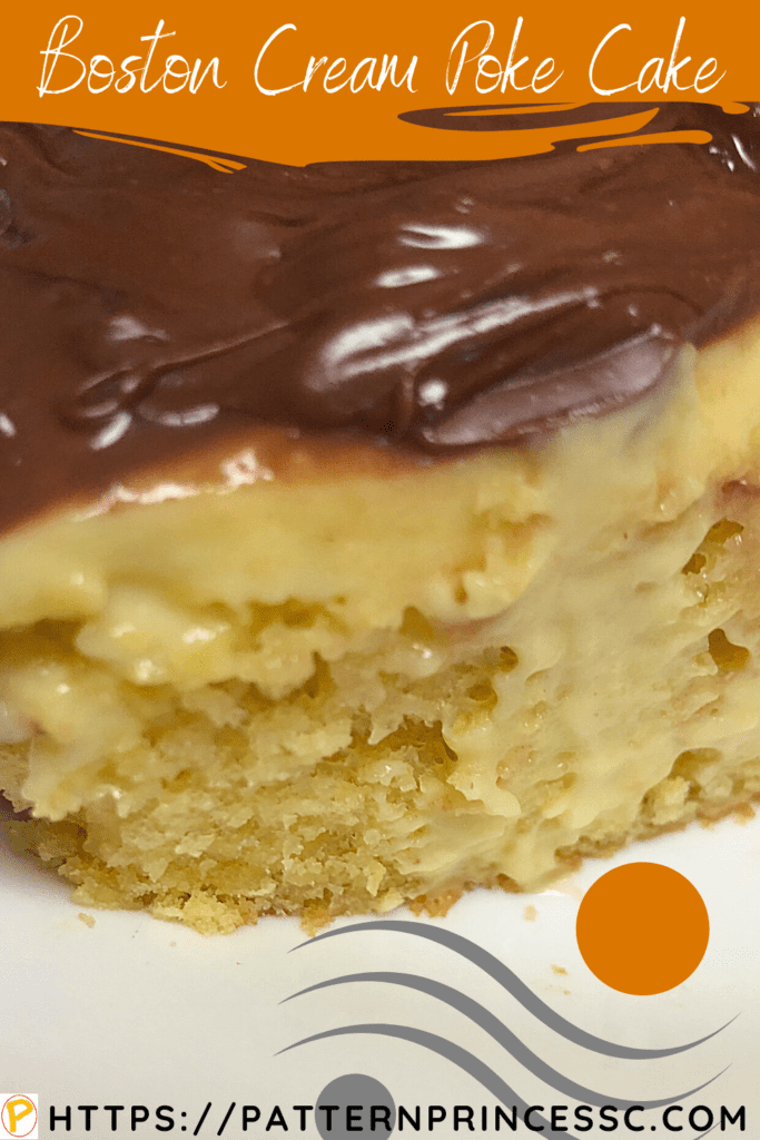 Boston Cream Poke Cake 1