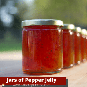 Jars of Canned Pepper Jelly