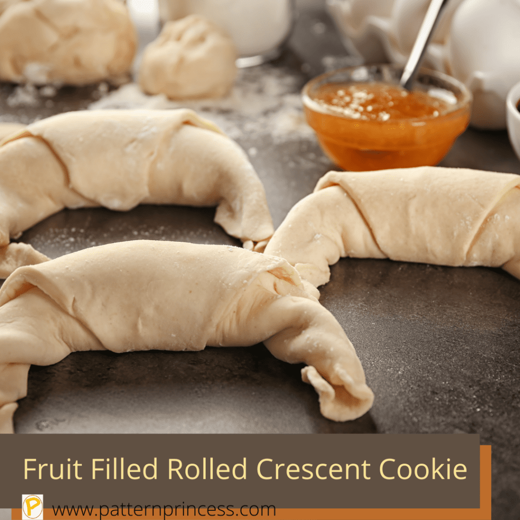 Fruit Filled Rolled Crescent Cookie