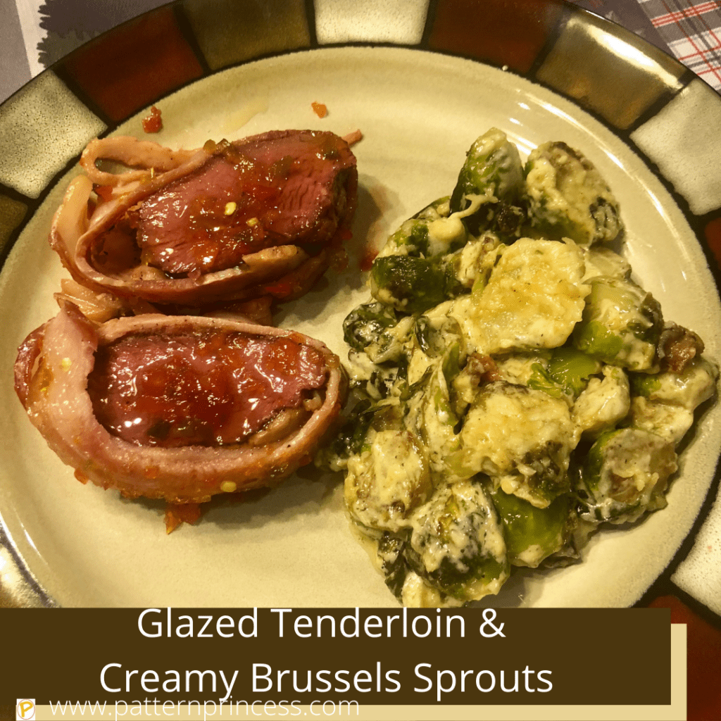 Glazed Tenderloin with Creamy Brussels Sprouts