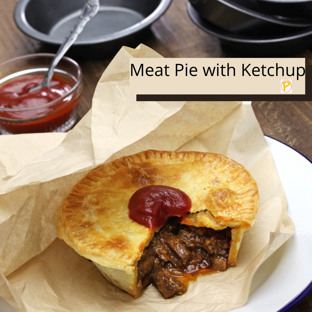 Meat Pie with Ketchup