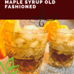 Non-Alcoholic Apple Cider Maple Syrup Old Fashioned