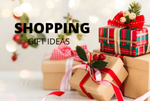SHOPPING Gift Ideas - packages wrapped with ribbons