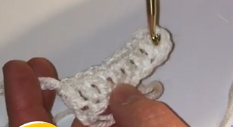 Double Crochet Stitch Sample