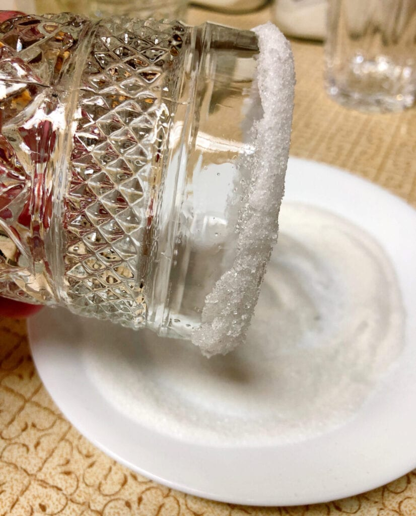 Sugaring the Rim of a Glass