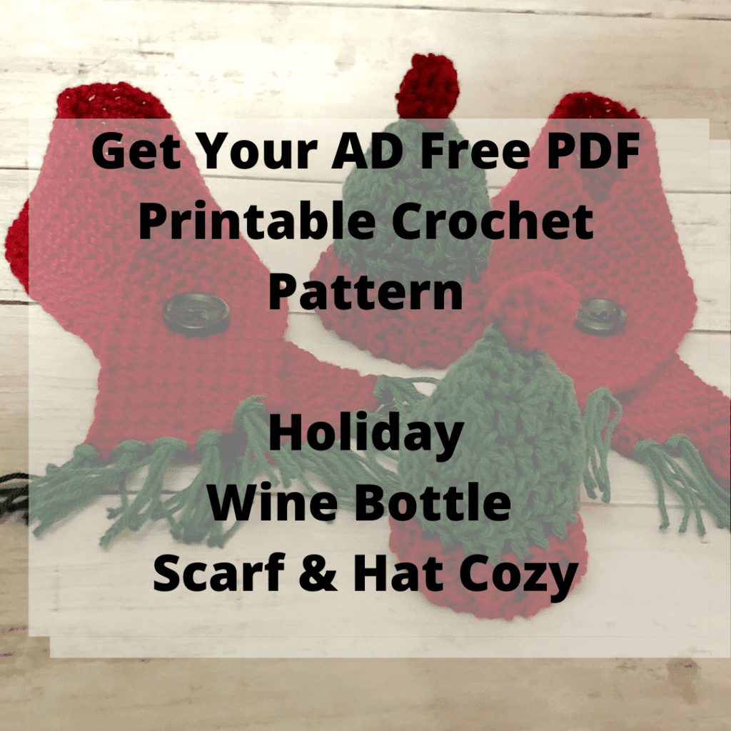 Holiday Wine Bottle Scarf & Hat Cozy Printable PDF