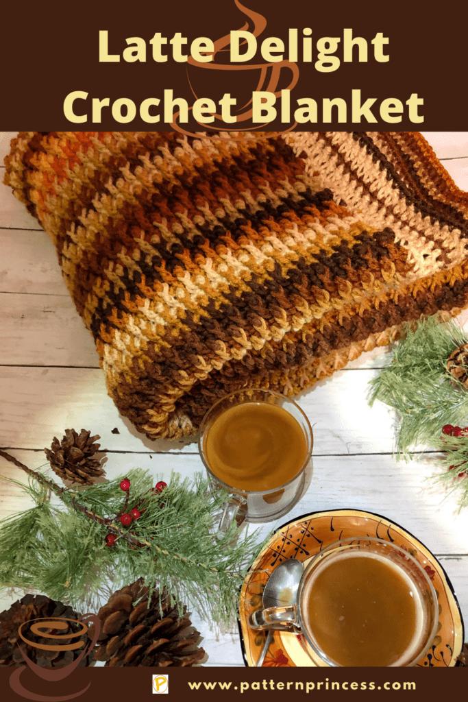 Latte Delight Crochet Blanket