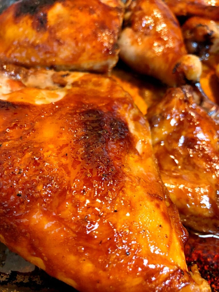 Glazed Chicken Served for Weeknight meal