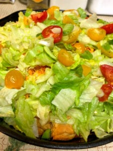 Adding Fresh Toppings to the Skillet Taco Bake