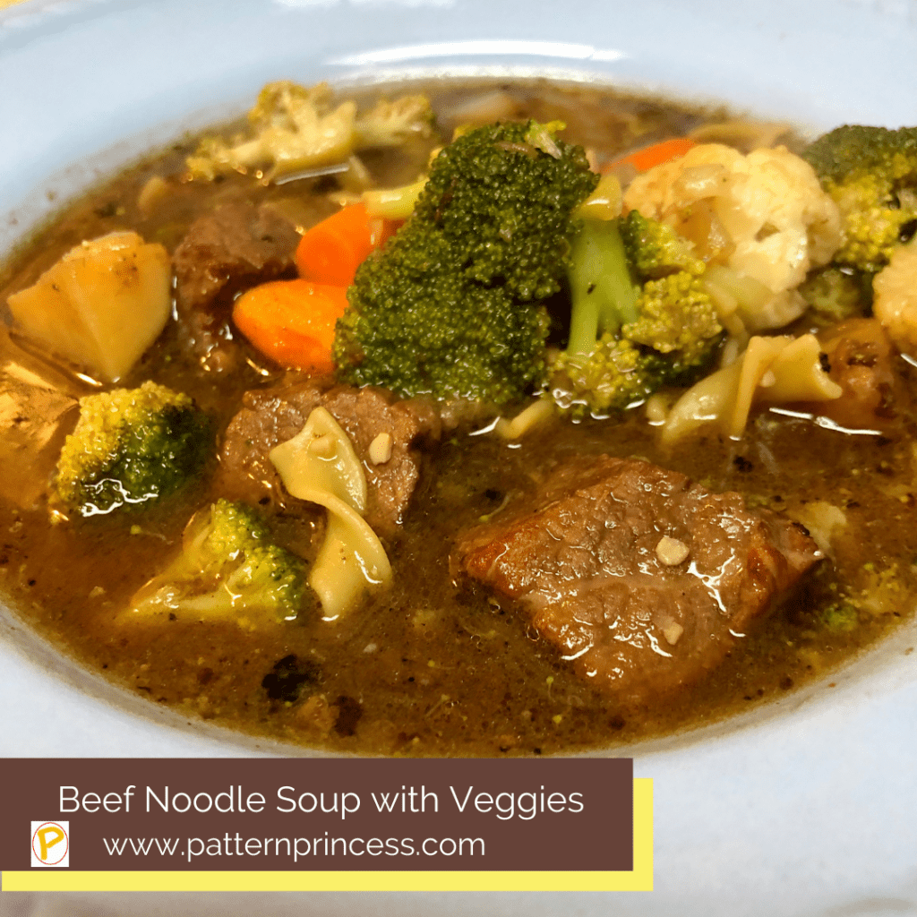Beef Noodle Soup with Veggies