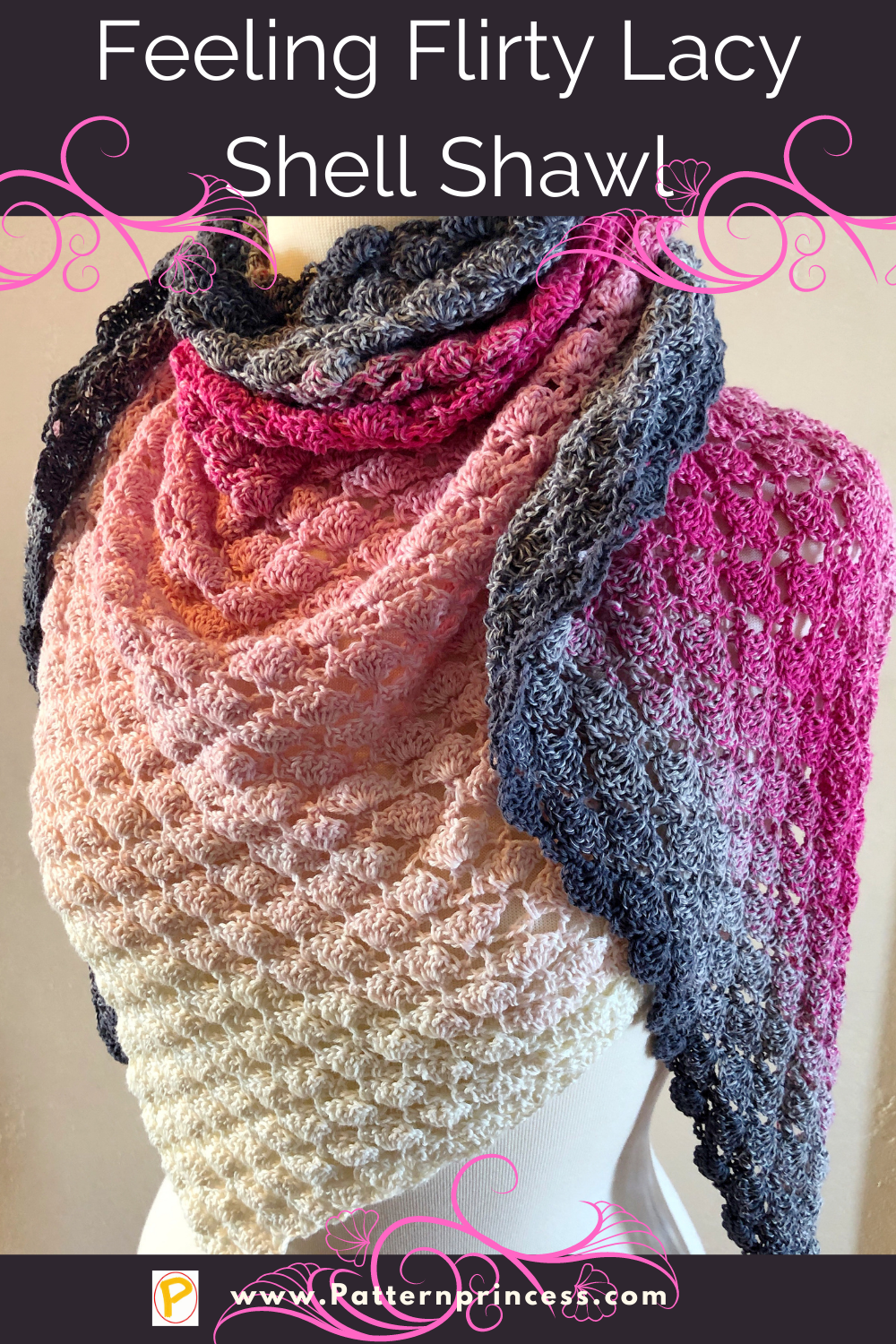 Feeling Flirty Lacy Shell Shawl