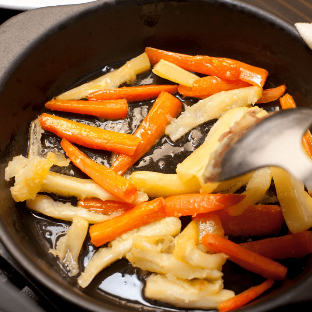 Fried Carrots and Parsnips