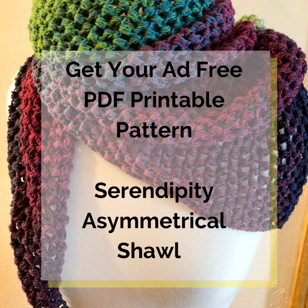 Get Your Ad Free PDF Printable Pattern Serendipity Asymmetrical Shawl Pattern