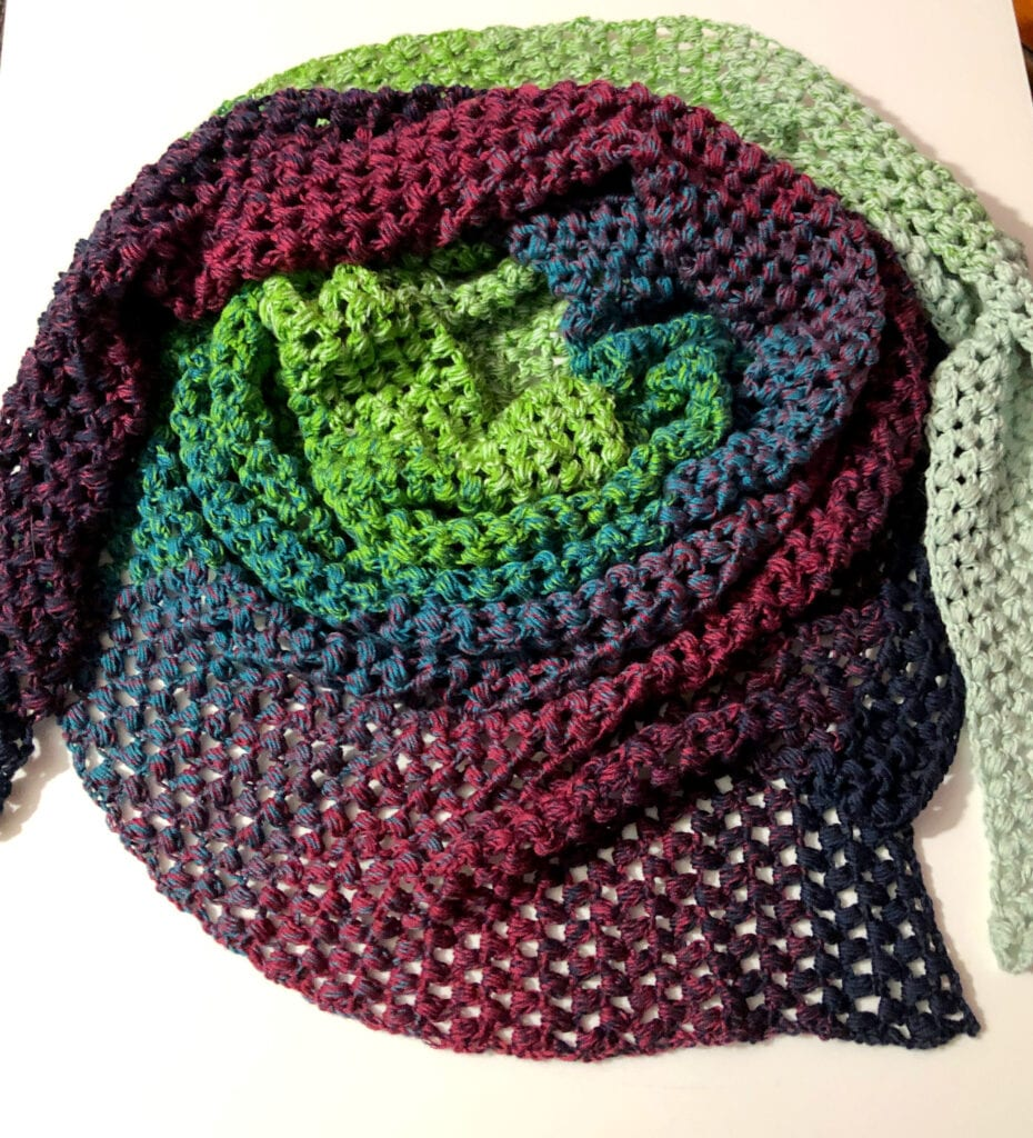 Serendipity Crochet Cowl Wrapped in Circle